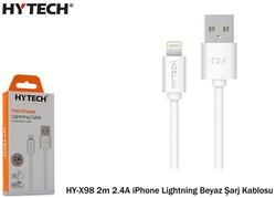 Hytech - Hytech HY-X98 2m 2.4A iPhone Lightning Beyaz Şarj